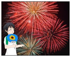 ミスと扇風機花火_015
