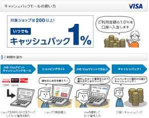 ジャパンネットキャッシュバックモール