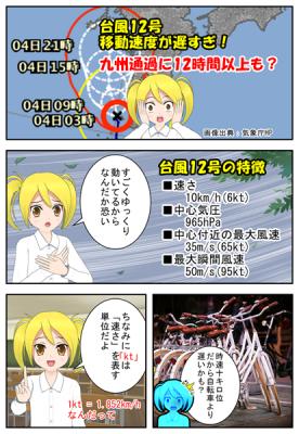 台風12号の詳細を漫画で説明