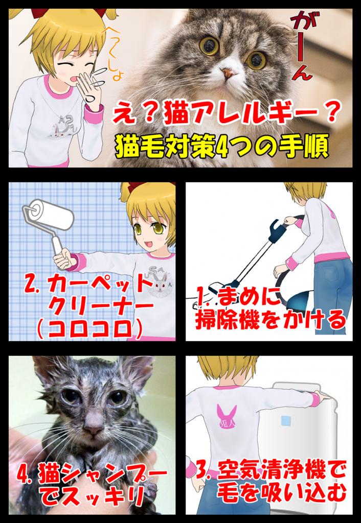 季節の変わり目の猫毛対策4つの手順を漫画で説明_002