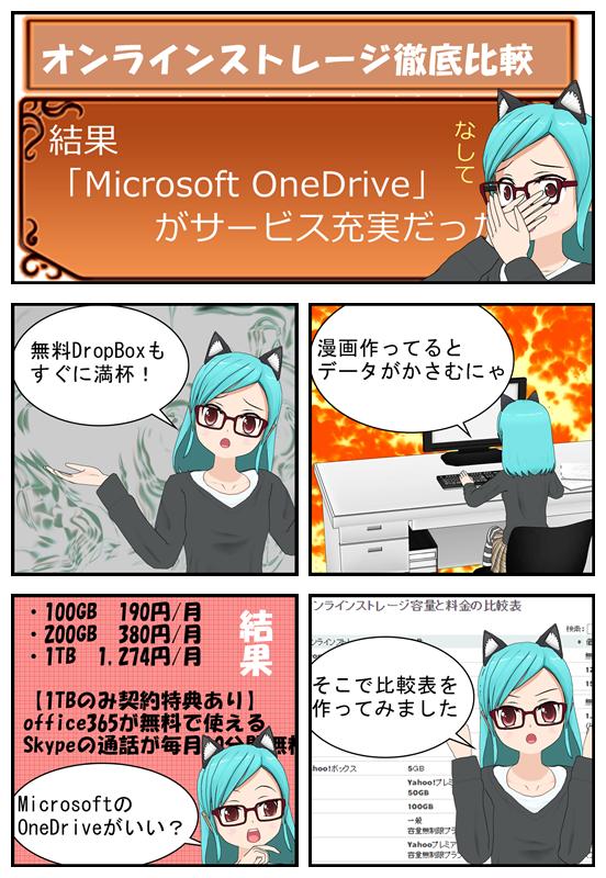オンラインストレージを比較した経緯を漫画で説明_001