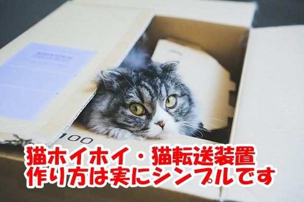 猫ホイホイ・猫転送装置の作り方