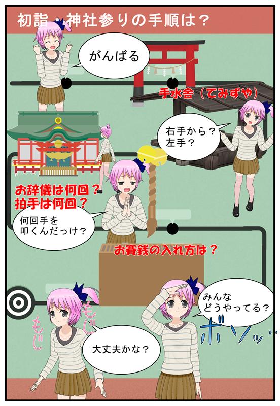 神社参りの手順がわからない場合を漫画で説明_002