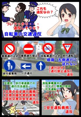 自転車運転者の知られていない義務違反を漫画で説明_004
