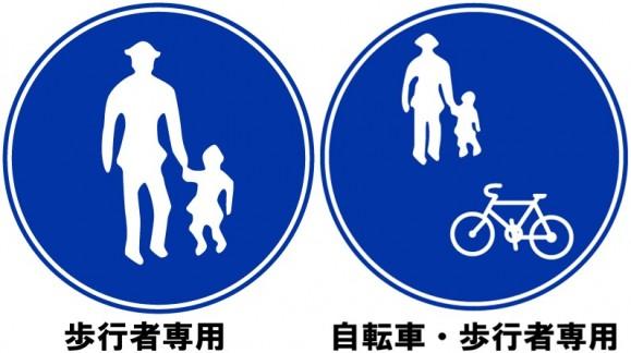 歩行者自転車標識