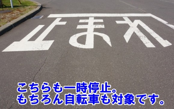 道路上の一時停止