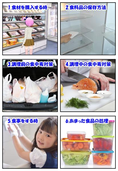 6つの食中毒対策