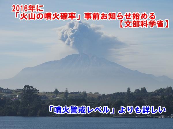 火山噴火確率お知らせ