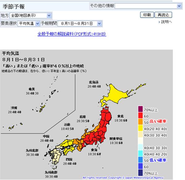 気象庁|季節予報
