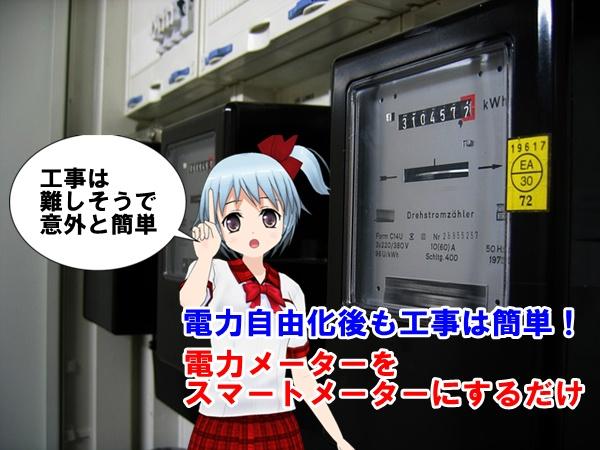 電力自由化後もスマートメーターで対応