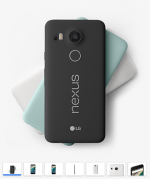 画像:Google ストア - Nexus5X https://store.google.com/product/nexus_5x