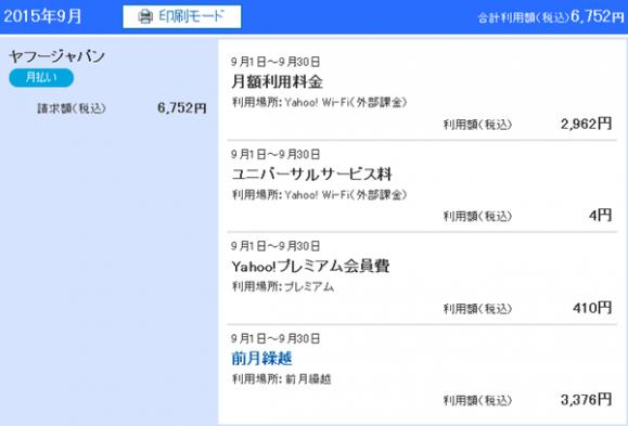 Yahoo!wallet2回目の請求