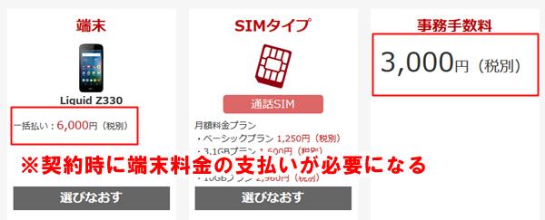 楽天モバイルの格安SIMは、端末を買うか、準備する必要があります。