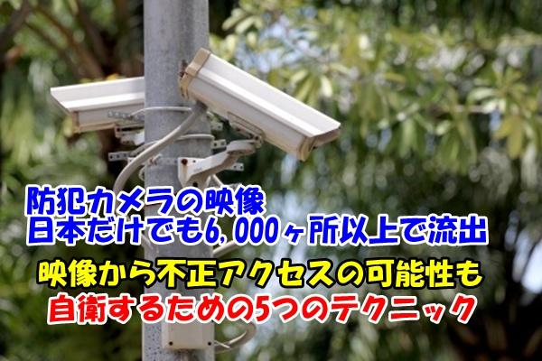 防犯カメラと画面