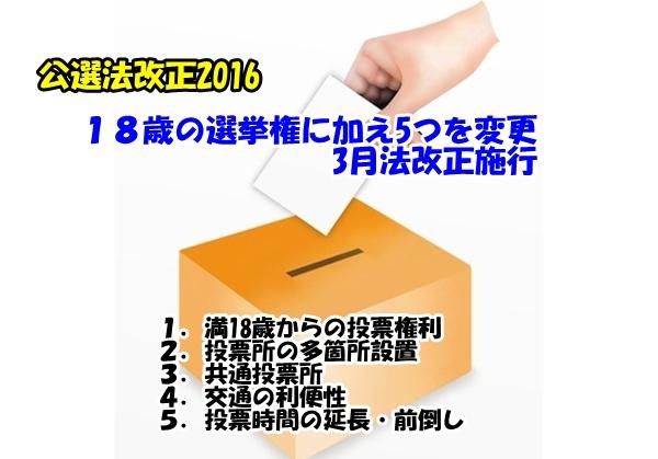 投票に関する5つの改正案