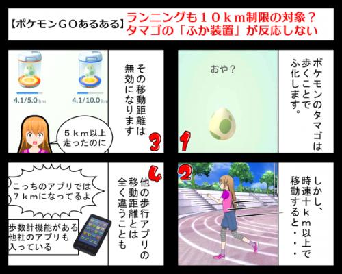 ポケモンgo10km制限を4コマ漫画で説明