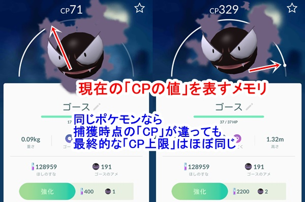 pokemon-同じ種類のcp上限