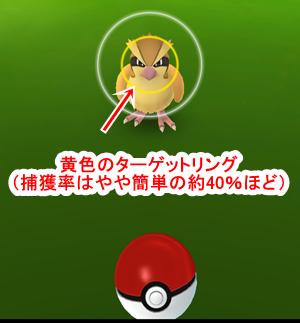 pokemongoで表示されるターゲットリングの解説