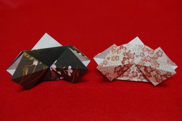 折り紙で作ったひな人形