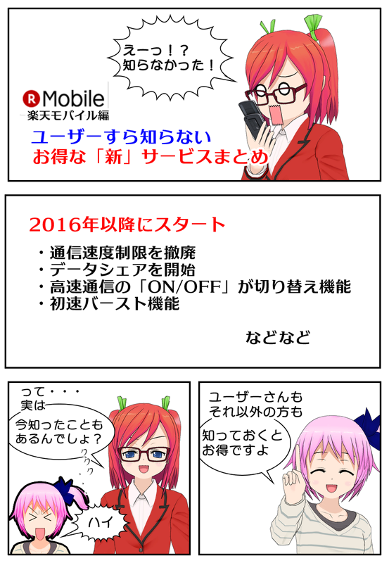 楽天モバイル新サービス一覧
